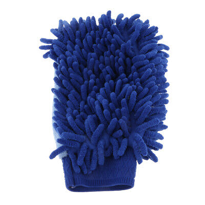 Microfiber Hands Duster Cloth Cleaning Household/Car Gloves Single Side Blue