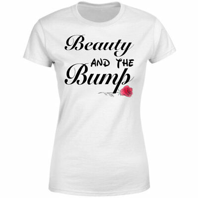 BEAUTY AND THE BUMP - *Womens Maternity Pregnancy T-shirt or Jumper* Disney