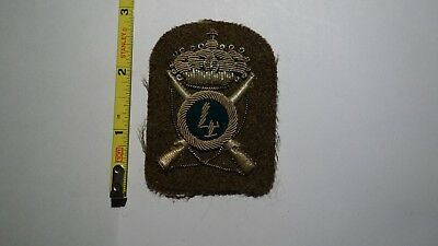 Extremely Rare WWII Italian 4th Division Silver Bullion Green Patch.  RARE!!!