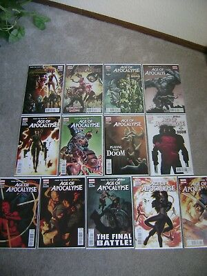 Age Of Apocalypse #1 - 13 Marvel Comics 2012 Lot Of 13 X-Men X-Force Boarded