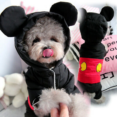 Waterproof Small Dog Jumpsuit Winter Warm Pet Cat Clothes Puppy Coat Thicken New