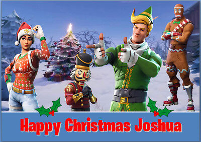 Fortnite Game Girl PS4 PlayStation Christmas Card A5 Personalised Any Wording