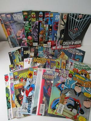 Job Lot 56 Various Spider-man Comics Amazing, Incredible, etc >1980's Ref 22