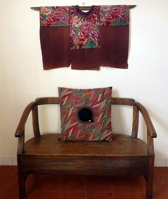 Beautiful Handwoven Maya Woman's Vintage Floral Huipil From Chichicastenango