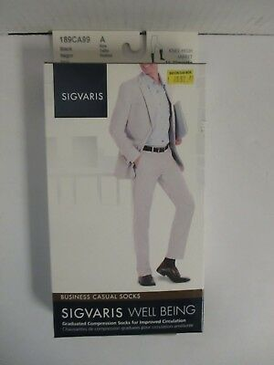 Sigvaris Well Being Business Casual Socks Size A Black - Rc 6277