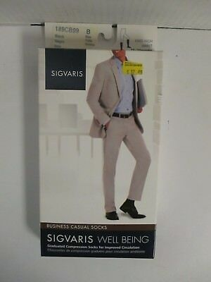 Sigvaris Well Being Business Casual Socks Size B Black - Rc 6280