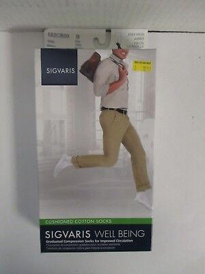 Sigvaris Well Being Cushioned Cotton Socks Size B White - Rc 6295