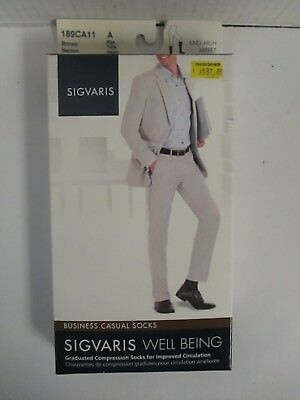 Sigvaris Well Being Business Casual Socks Size A Brown - Rc 6278