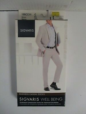 Sigvaris Well Being Business Casual Socks Size C Brown - Rc 6283