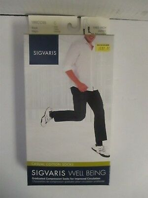 Sigvaris Well Being Casual Cotton Socks Size C Black - Rc 6292