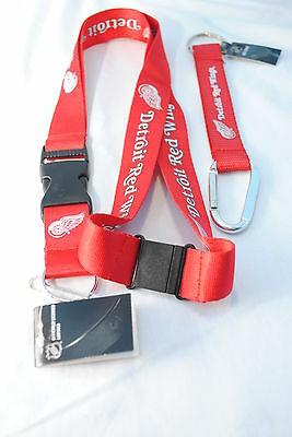 Detroit Red Wings Lanyard & Carabiner Keychain