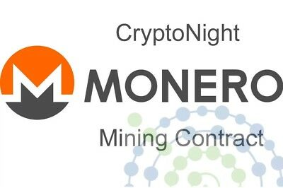 MONERO CryptoNight XMR XMO Mining Contract - 24 Hours - 9100 H/s (9,1 KH/s)