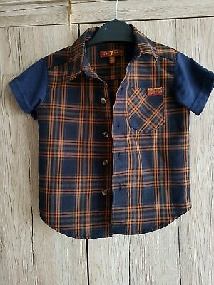 7 for all mankind shirt baby boys age 12m checks jersey short sleeve