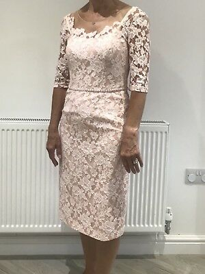 Pink Lace Mother Of The Bride Dress Size 10 John Charles