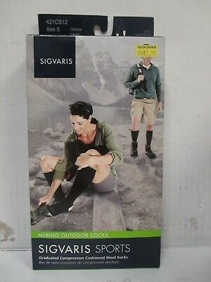 Sigvaris Merino Outdoor Socks Size Small Olive - Rc 6352