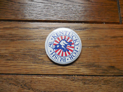 Kentucky Presidential Pin Back Campaign Political Button George Bush President