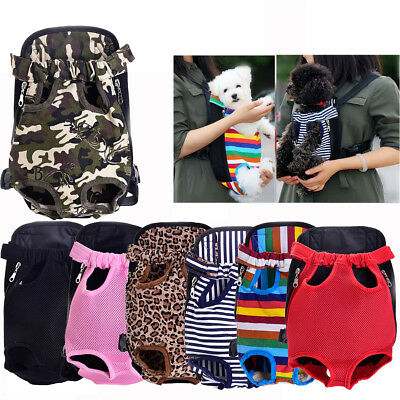 Pet Puppy Dog Cat Carrier Backpack Front Net Mesh Bag Travel Tote Sling Carrier