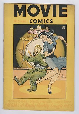 Movie Comics #3 (1947) VG- Andy Hardy Golden Age Fiction House