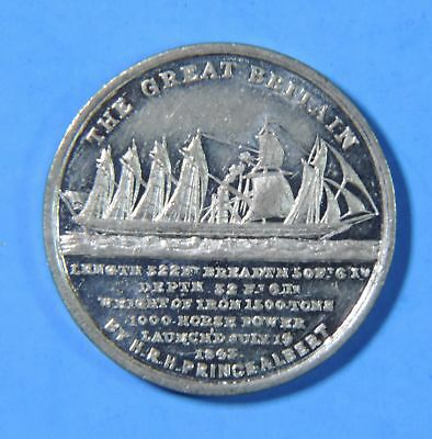 1843 The Launch of The SS Great Britain Ship Prince Albert Medal