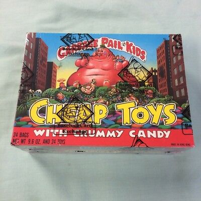 1986 Garbage Pail Kids GPK Cheap Toys Crummy Candy BBCE Sealed Box 24 Packs