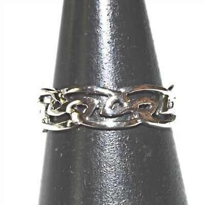 Sterling Silver Celtic Knot Design Adjustable Toe Ring~Wicca~Pagan~Jewellery #1