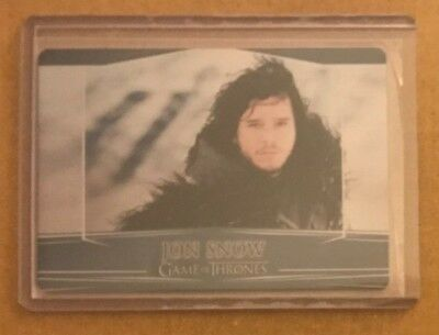 Game Of Thrones - Season 7: Valyrian Steel Variant Metal Base Card - 5A Snow