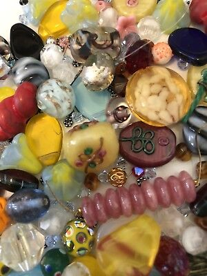 Beautiful Lot Of Mixed Vintage Glass Beads