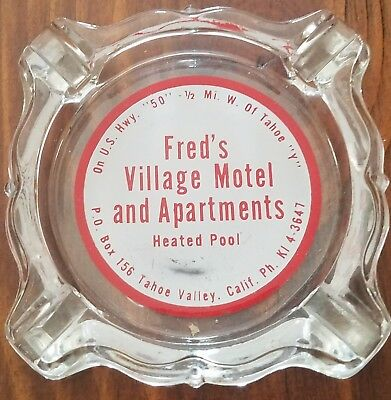Fred's Village Ashtray. Tahoe Valley, CA