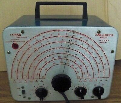 NRI Conar Signal Generator Model 280  with Test Leads & Manual