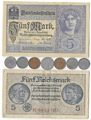 German Rare Very Old WWI WWII Germany War Note Coin WW2 Great Collection Big Lot