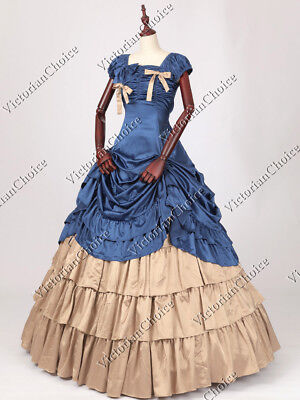 Southern Belle Victorian Gothic Gown Dress Theater Reenactment Clothing N 270 L