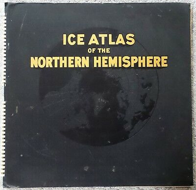 The Northern Hemisphere Ice Atlas First Edition 1946 U.S. Navy Map Nautical Maps