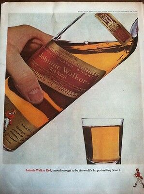 VINTAGE MAGAZINE Print AD Johnnie  Walker Scotch Red Label      Alcohol    AL50