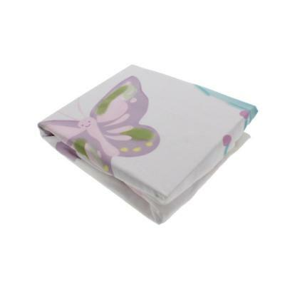 Truly Scrumptious by Heidi Klum Butterfly Wonderland Multi Crib Sheet BHFO 0222