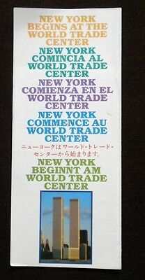 World Trade Center -  Twin Towers - WTC - New York Begins Brochure - 6 Languages