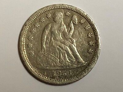 1856 US One Dime- Seated Liberty Silver Coin Rare