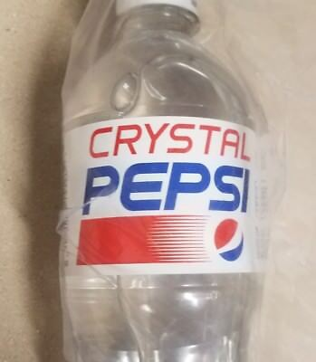 Crystal Pepsi 20oz 11.06.2017 New No Longer Sold Out Clear Soda