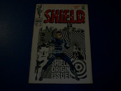 Nick Fury Agent of Shield #4 Silver Age Steranko  Shield Origin Key Issue Fine