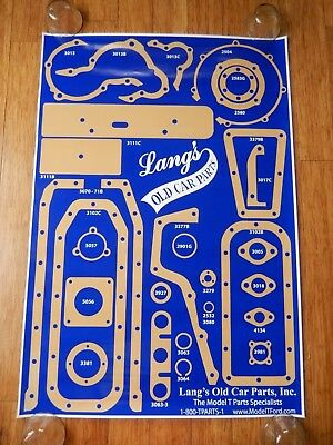 """LANG'S Old Car Parts, Inc The MODEL T Parts Specialists 26 ¼"""" x 38 ¼"""" Poster"""