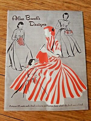 Vintage 1940'S ALICE BROOKS DESIGNS Crochet Pattern Catalog Magazine