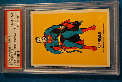 1974 Warner Bros Superman National Periodical Cards PSA 8 NM-MT DC Comics