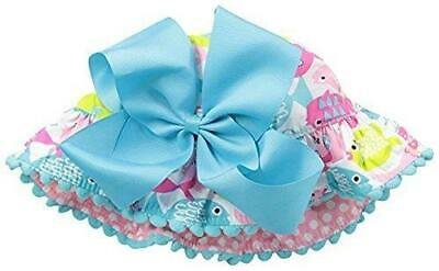 Mud Pie Girls Under the Sea Fish Print Collection Sun Hat - Toddler Hair Bow