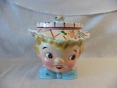 Geo Z. Lefton 50's Vintage Miss Dainty #040A Rare Cookie Jar Pre -owned