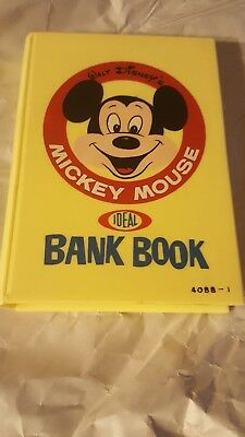 Ex! Disney 1964 Mickey Mouse Bank Book. Complete, No Cracks.