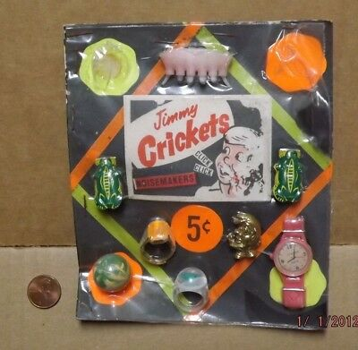 Vintage 1960's Vending Machine Header Display Card Jimmy Crickets 5 CENT RARE