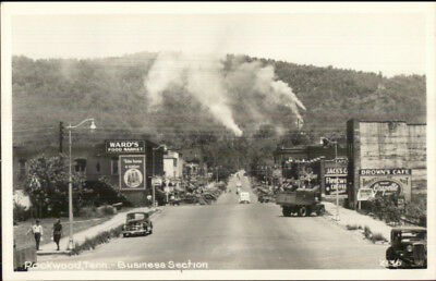 Rockwood TN Business Section CLINE? Real Photo Postcard