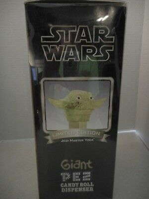 2005 Limited Edition Jedi Master Yoda Giant Pez Candy Roll Dispenser
