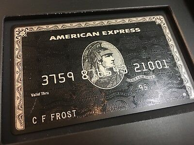 American Express CENTURION 'The Black Card' Personal Invitation Pack