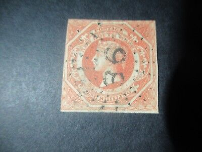 NSW Stamps: 1854 - 55 1/- Red Double Lined Numeral Used - Great Item   (q79)