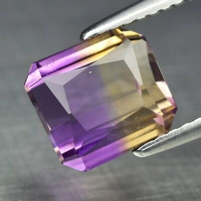 2.89ct 8.2x7.5mm VS Octagon Natural Untreated Yellow & Purple Ametrine
